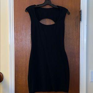 NWOT Black Cotton American Apparel Bodycon Dress